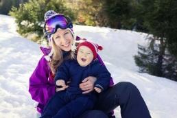 Take a nanny skiing